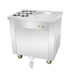 BEIJAMEI Круглая Плоская Кастрюля Коммерческий Жареный Йогурт Прокатная Машина Из Нержавеющей Стали Электрическая Машина для Рулона Мороженого