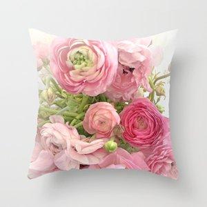 홈 인테리어 45x45cm 복숭아 벨벳 베개에 베개 케이스 장미 꽃 패턴 폴리 에스테르 소파 장식 쿠션 커버 RRA2908을 14styles