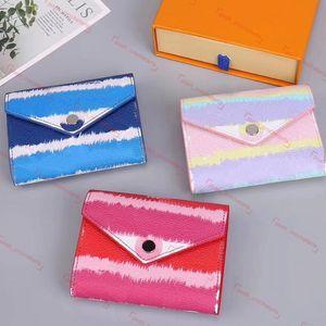 Tie Dye raccoglitore per il Designer Pastel Breve Portafoglio Escale Collection Breve raccoglitore delle donne per le donne con la confezione più recenti rosa pastello