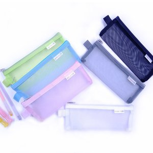 Zipper Mesh Pouch, Pencil Pouch Pen Bag Multipurpose Travel Bags for Office Supplies Cosmetics Travel Accessories