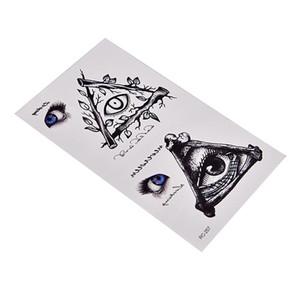 5шт / серия водонепроницаемый Horror татуировки наклейки DIY глаз Временные татуировки
