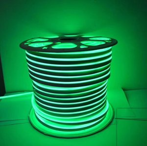 Fanlive 100 м / лот 80 светодиодов / м Ac110v 240 В Гибкая светодиодная лента Fita Неоновый гибкий канатный свет RGB Мягкая трубка Лампа Наружное освещение