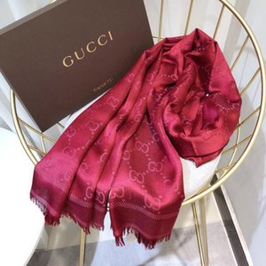2020 Hot Sale Silk Scarf Fashion Man Womens 4 Seasons Shawl Scarf Scarves Size about 180x70cm 6 Color with Gift
