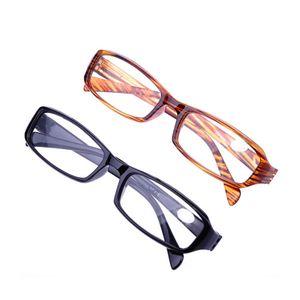 Frauenrechteckige Gläser Gläser für PC-Material Rahmen Brille normalen Spiegel Presbyopie männlich weiblich Leselicht alter Mann Geschenk Lesen