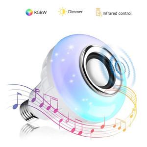 원격 제어에 의해 Tuya 앱과 램프 110V 220V 스마트 Led 빛 음악 플레이어 오디오 LED 무선 블루투스 스피커 + 12W 컬러 디 밍이 가능한 RGB 전구