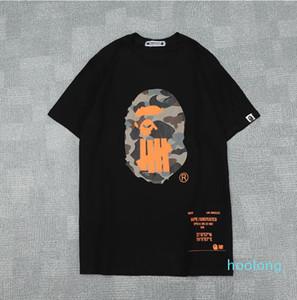 Hot Lovers été Hommes Cartoon Singes tshirts Mode ras du cou court -Sleeve classique Camo imprimé Supply Co Homme T-shirts Tops Cartton Casual