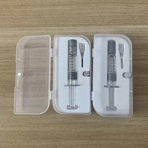 박스 포장 1ml Luer Lock Luer 헤드 연료 주입기 투명 유리 바늘이있는 오일 증기 용 주사기 주입기 펌프