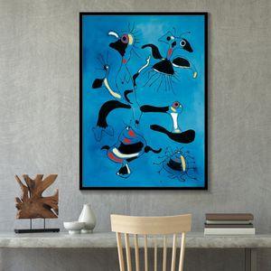 Joan Miro -14 Abstract Wall Art Peinture à l'huile sur Cancas célèbres peintures sur toile Salon Décoration Grande Image 191002