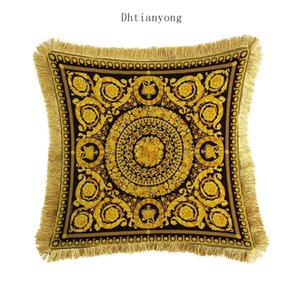 Gold Printing Pillow Case Customized Substitute Fashion Cushion Cover New Goddess Retro Pillowcase Sofa Bed Cushion Cover