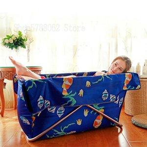 Portable folding bathtub adult bath barrel home free inflatable bath barrel magic artifact thick and durable
