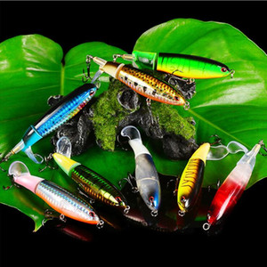 High Quality 8Pcs Set Propeller Tractor Hard Bait Fishing Lures Artificial Bait Fishing 11cm 15G-#6 Hook