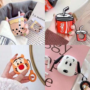 Coke Coffee Tiger Dog 3D Cute Design Silicone Case for Apple AirPods Protective Cases Wireless Bluetooth Earphone Case Cover