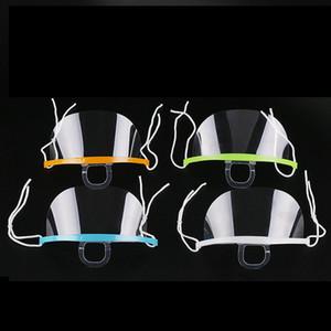 Ağız Spit Muhafız Teşkilatı Cook Garson / Garson Bar Anti-frost Maske RA2132 için Restoran Otel Şeffaf Plastik Yüz Maske Kullanılan Maskesi