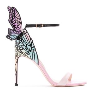 Sophia Webster Kelebek Kanatları Kadın Yüksek Topuklu Sandalet Yaz Ayakkabı Düğün Balo Parti Pompaları