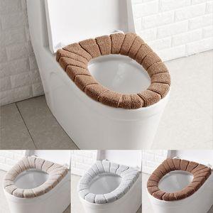 Higiênico macio Seat Cover lavável Toilet Seat Mat para banheiro Closestool Mat assento Caso Warmer Toilet Tampa Tampa Acessórios DHL WX9-1899