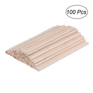 Varas de passador de madeira rodada varas para artesanato de madeira diy modelo de construção diy ferramentas de artesanato 100 pcs