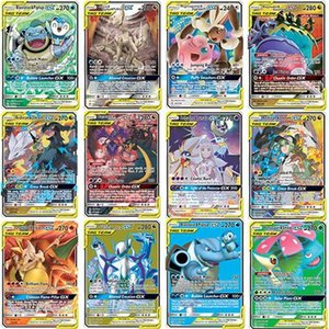Pokemon English version Bataille Collection Flashcard Nouveau TAG ÉQUIPE Cartes GX 20 30 60 TAG Kids Team Toy cadeau