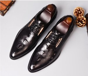 Mens Italian Dress Shoes Genuine Leather Handmade Men Monk Shoe Office Formal Wedding Party Mens Oxford Shoes da8
