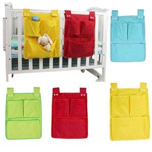Baby Cot Bed Rooms Nursery Hanging Storage Bag Cotton Cartoon Newborn Crib Cot Organizer Kid Toy Diaper Pocket for Bedding Sets
