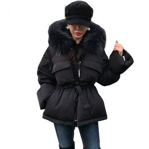 Женская Parker толстые короткие кружева женщин зимняя куртка черный мода теплый хлопок стеганое пальто зимнее пальто женщин меховой воротник H22