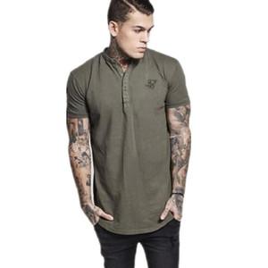 Marka Tişört KY Erkekler Bahar Pamuk Sik İpek T gömlek erkekler Katı Renk Tişört Kısa Kollu Siksilk En Erkekler Tasarımcı Tee Gömlek M-2XL