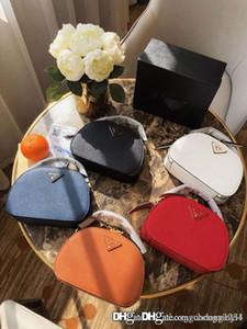 Die neue echtes Leder Schulter getragen Frauen Eimer Taschen Frau Handtasche Mode Mini Designer Tote Cross Grain Crescent Paket Geldbörsen