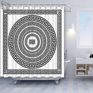 Su geçirmez polyester Banyo Dekorasyon Perde Boho Perdeler Perde Hint Çiçek Paisley Medallion Etnik Mandala Duş