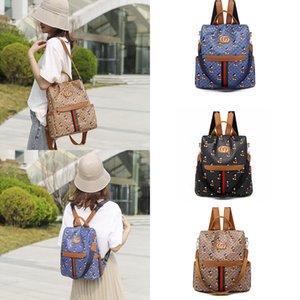 2020 뉴 럭셔리 디자이너 어깨 핸드백 크로스 바디 백 만화 패턴 원형 가방 고전 사각형 배낭 책가방