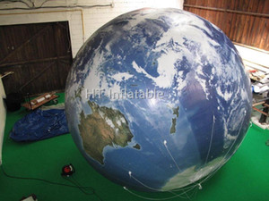 Free Shipping 2m Printing Giant Inflatable Globe Ball , Inflatable Earth Globe , Big Size World Globe For Advertising