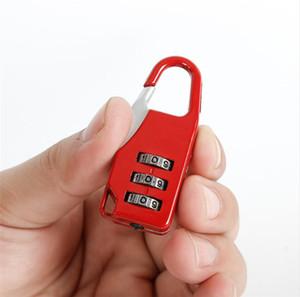 قفل الآمن السفر مكافحة سرقة قفل 3 البسيطة الطلب أرقام قفل عدد كود كلمة الجمع قفل الأمن لقفل الأمتعة من رياضة E22405
