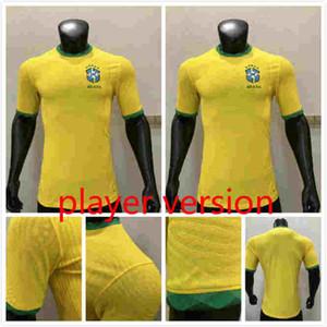 player versão Copa América 2020 o Brasil camisa de futebol FIRMINO NEYMAR JR camisa de futebol t P.COUTINHO uniforme camisa Brasil 2020 Feminina