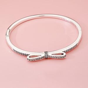 NEW Fashion Luxury CZ Diamond Bowknot braccialetto set Bracciale originale per Pandora 925 Sterling Silver bracciali donna matrimonio