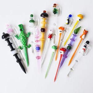 유리 봉 연기 acccessory 용 유리 Dabber 도구 왁스 살짝 적셔 도구 수화물 캡 왁스 살짝 적셔 도구