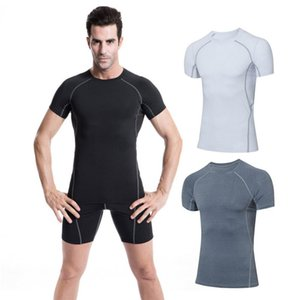 Men Casual Running Shirt Short Sleeve Quick-drying Breathable Bottoming Round Collar T-shirt Sports Tops