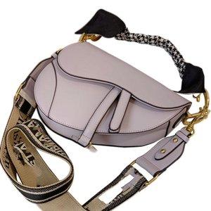 diseñador de las mujeres del monedero del Dior bolso de lujo de un hombro en diagonal bolsa de sillín negro y blanco roca taro gris púrpura vienen con pañuelo de seda