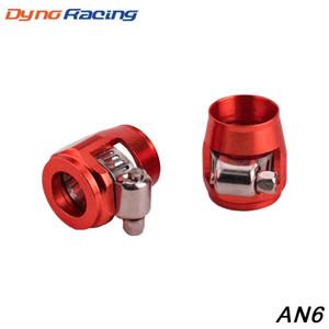AN6 Fascetta 1lot = 2pcs tubo Fascetta 6 AN6 Fuel Oil Water Hose Fittings Finisher Morsetti Hex finitura TT100819
