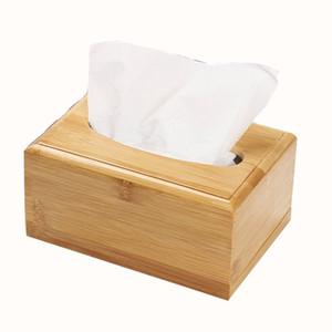 Tavolo da toeletta per camera da letto da bagno Comodino Scrivania Scatola di fazzoletti in legno massello Scatola di fazzoletti staccabile