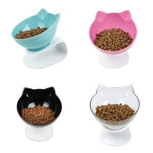 Cat Food Rice Bowl Protect The Spine Dog Pot Pet Dish Rack Suit Non Slip Anti Fall Green Black 24 4rs C1