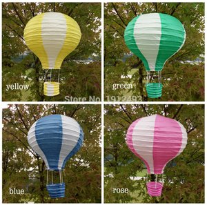 10pcs / lot de 12 polegadas (30cm * 48cm) balão de ar Multicolor Hot lanterna de papel Desejando Lanternas for Wedding Party presente de aniversário Decor