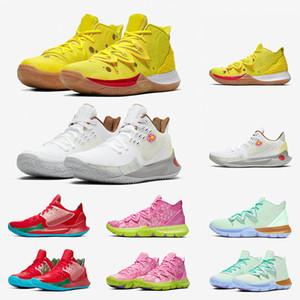 alta qualidade Mens Kyrie Calçados TV PE tênis de basquete 5 Para 20th Anniversary SpongenbspBob x KyrienbspIrving 5s desenhador Sports Sneakers