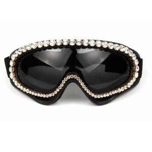 European and American rhinestone goggles ladies windproof sunglasses fashion trend handmade diamond sunglasses