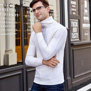 UCAK бренд свитер мужчины 2019 новое поступление зима мериносовая шерсть свитера кашемировый пуловер мужчины толстая теплая водолазка Pull Homme U3021
