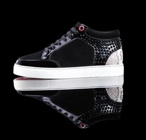 Free shipping good quality arrival royaums suede snake leather high top Outdoor Lace Up Junior men sneakers