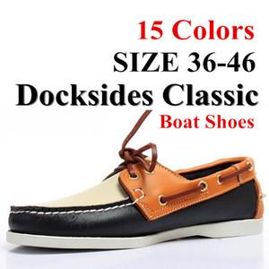 Klassische Skate Schuhe Fashion Dockside Schuhe Männlich Big Size Lederschuhe Männer 5 # 22 / 20D50