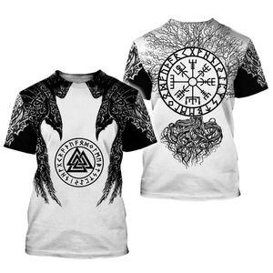 símbolo viking - Odin tatuagem 3D imprimiu a camisa de homens t Harajuku Moda manga curta Verão Casual Unisex tshirt encabeça WS358 Y200409