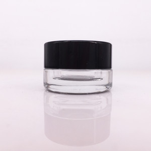 Récipient concentré transparent 3ml 5ml Dab Container Pot en verre Dab avec cire sèche aux herbes Contenant en verre antiadhésif Navire gratuit