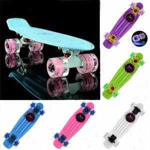 "Pastel Mini 22"" Kaykay Cruiser Penny Kurulu Skate Board Retro Longboard Komple Plastik Scooer"