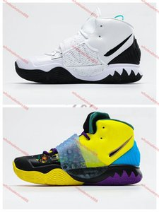 Xshfbcl New Arrival 4s Kyrie IV Lucky Charms Men Basketball Shoes Men Top Quality Irving 4 Confetti Color Green progettista Trainers off Sne