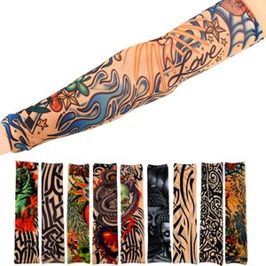 1pcs Cool Simulation Tattoo Sleeve Arm Sleeve Sport Accessory Skins Sun Protective Riding Tattoo Sticker For Women Men