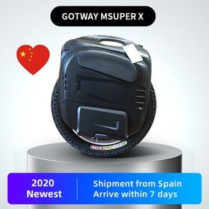 Оригинал 2020 GOTWAY MSuper X 84V / 1600wh Electric Моноцикл 2500W двигатель, черная педали и модернизированная колонны, отправлен за границей, monowhee